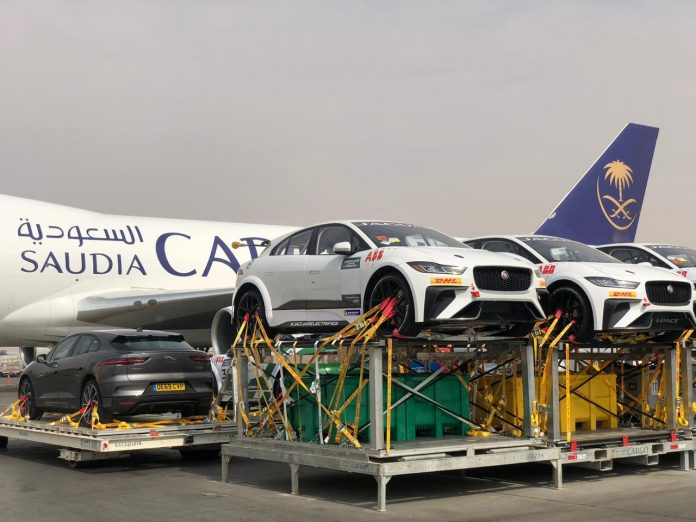 Saudia Cargo Transports Formula-E Cars from Europe