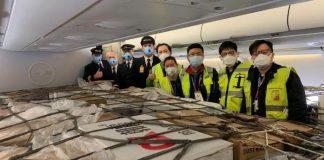 Lufthansa Cargo's First Passenger Aircraft Full of Air Cargo Lands in Frankfurt