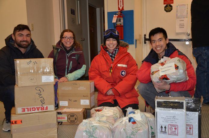 DAMCO Deliver Parcels to Team Stuck at Remote Antarctic Research Station