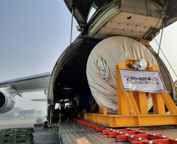 Antonov Airlines Safely Transports Rotor from Ghana to India