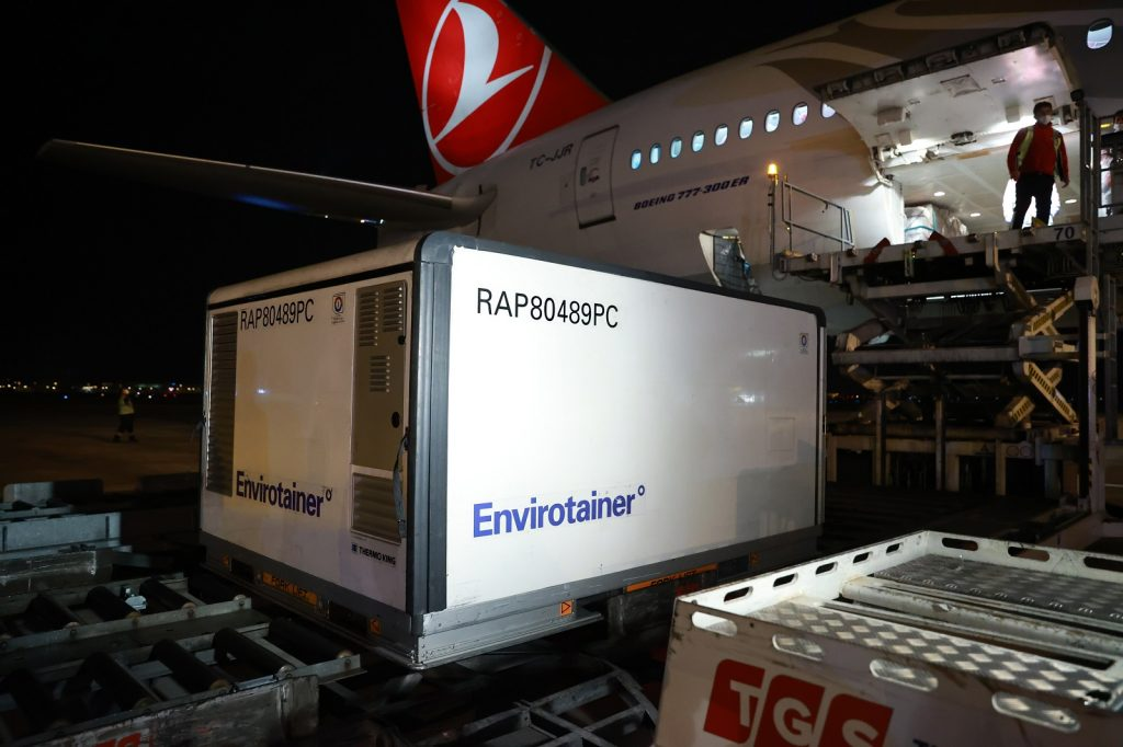 Turkish Cargo Transports UNICEF's Covid-19 Vaccines